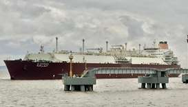 Qatargas-chartered LNG vessel 'Al-Gharrafa' anchored at Zhoushan Terminal in China