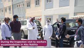 During the Inspection visit to workers accommodation in Abu Nakhla