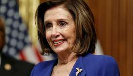 U.S. House Speaker Nancy Pelosi (D-CA) hosts a signing ceremony after the House of Representatives a