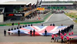 The Silverstone Circuit during the British Grand Prix in 2019. (Reuters)