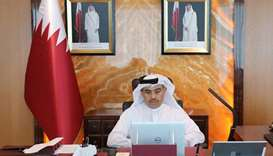 Al-Kuwari participates in GCC ministers meet through video conferencing