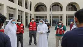 Snapshots of the visit by QRCS president Dr Mohamed bin Ghanem al-Ali al-Maadheed to the quarantine