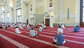 The first Friday prayers of the holy month of Ramadan taking place at Imam Muhammad ibn Abdul-Wahhab