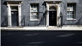 General view of 10 Downing Street, Britain's Prime Minister Boris Johnson is to return to work on Mo