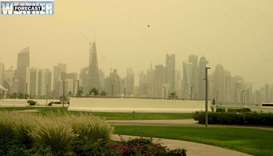 Met Dept warns of strong wind, dust Monday