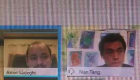 Dr Sadeghi and Dr Tang at the webinar