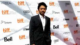 """Indian actor Irrfan Khan arrives for the screening of the film """"Dabba (The Lunchbox)"""" at the 38th To"""