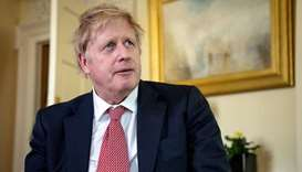 Prime Minister Boris Johnson thanks the NHS in a video message on Easter Sunday, in 10 Downing Stree