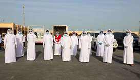 Dr Khalid bin Ibrahim al-Sulaiti and other officials during the launch event at Katara.