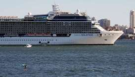 The Celebrity Solstice cruise ship is moored in Sydney Harbour due to coronavirus disease (Covid-19)