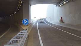 A section of the new underpass on Mesaimeer Interchange.