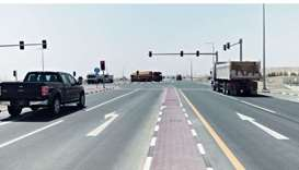 The newly opened road and intersection will help facilitate access to the Al-Sailiya Central Market.
