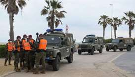 Spanish soldiers patrol the streets of Valencia during a national lockdown to prevent the spread of