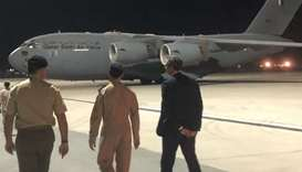 Italian amb. Prunas visits the military base in Qatar from where two Amiri Air Force aircraft will t