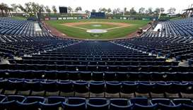 A general view of American Family Fields stadium after MLB's decision to suspend all spring training