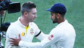 Former Australia captain Michael Clarke (left) also said Virat Kohli right now is best batsman in th