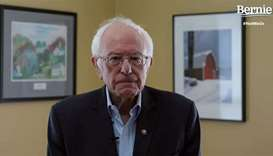 In this video still image from the Bernie Sanders Presidential Campaign, Sanders announces the suspe