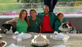 Tiger Woods and family celebrate his 2019 Masters win at home in Florida on Tuesday. (Twitter/@Tiger
