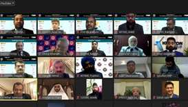 Participants of the virtual event organised by the Doha Chapter of the Institute of Chartered Accoun