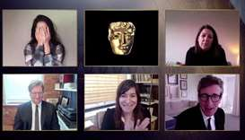 A handout photo received from BAFTA shows US director Mollye Asher, US producer Dan Janvey, US actor