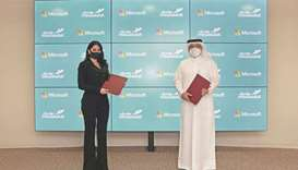 The agreement was signed by Ahmed Abdulrahman al-Muftah on behalf of Mowasalat (Karwa) and Lana Khal