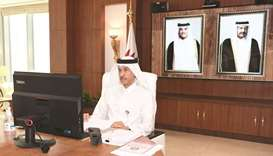 HE Chairman of the General Authority of Customs (GAC) Ahmed bin Abdullah al-Jamal and several GAC de