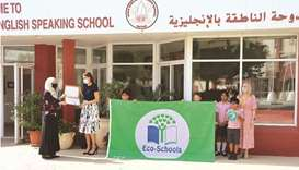 The school was awarded the Green Flag for the collaborative work done by its students, teachers and