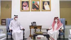 Saudi undersecretary meets Qatar acting charge d'affaires