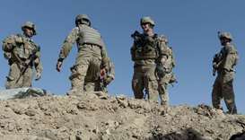 (file photo) US soldiers stand in Maidan Shar, south of Kabul