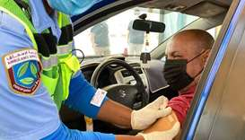 Qatar drive through vaccination
