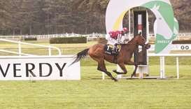 Olivier Peslier rides Qaiser to Prix Carrus victory at Lyon-Parilly in France on Thursday. (Studio H