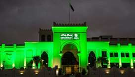 Buildings go green for Qatar Family Day