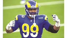 Los Angeles Rams defensive tackle Aaron Donald.