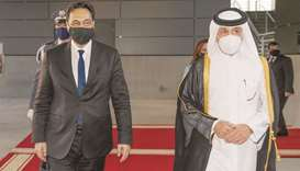 Caretaker Prime Minister of Lebanon Dr Hassan Diab arrived on Sunday in Doha on an official visit to