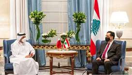 FM meets Lebanese caretaker PM