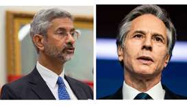 Indian Foreign Minister Subrahmanyam Jaishankar and US Secretary of State Antony Blinken