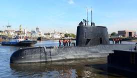 (file photo) The Argentine military submarine ARA San Juan and crew