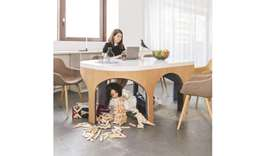 Sleiman's award-winning design is functional while encouraging children's creative play. Photo credi