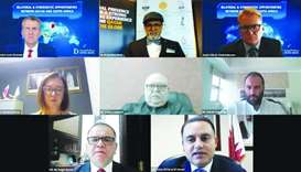 Participants of the webinar highlighting the investment opportunities to be shared by Qatar and Sout