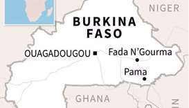 Map of Burkina Faso. (AFP)