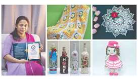 Manju Jai, Indian crochet artisan, was part of a team that set a Guinness World Records for crocheti