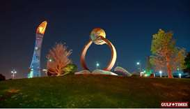 Long exposure pictures of Aspire Zone taken with artistic camera movements
