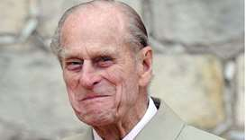 Prince Philip, Duke of Edinburgh smiles at Windsor Castle on April 25, 2009