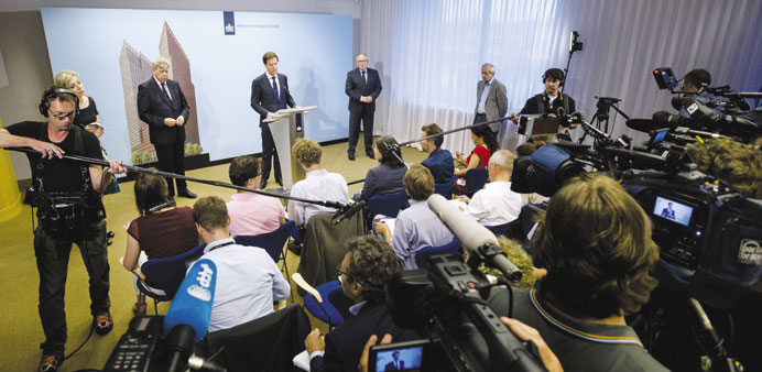 Rutte vows justice if MH17 was 'attacked'