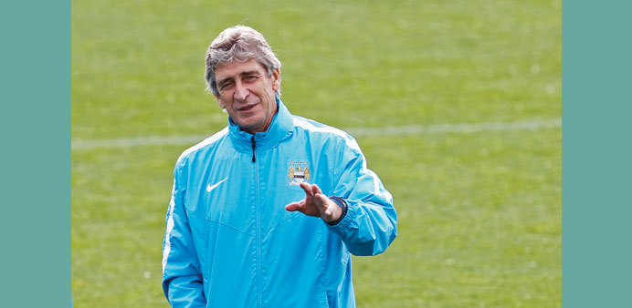 Manchester City manager Manuel Pellegrini.