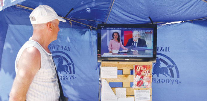 Russian TV airs wrong and old footage in Ukraine report