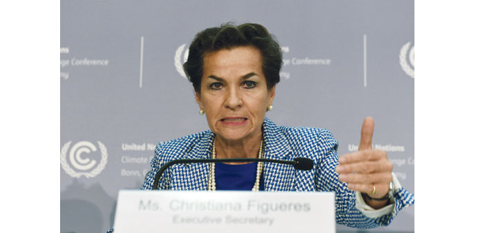 Christiana Figueres, executive secretary of the UN Framework Convention on Climate Change (UNFCCC),