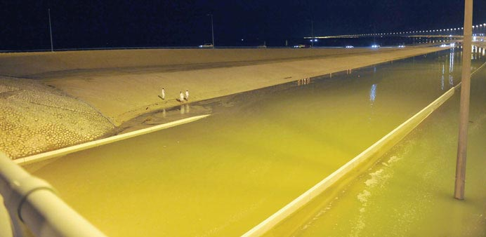 The recent  flooding on the Dukhan Highway,