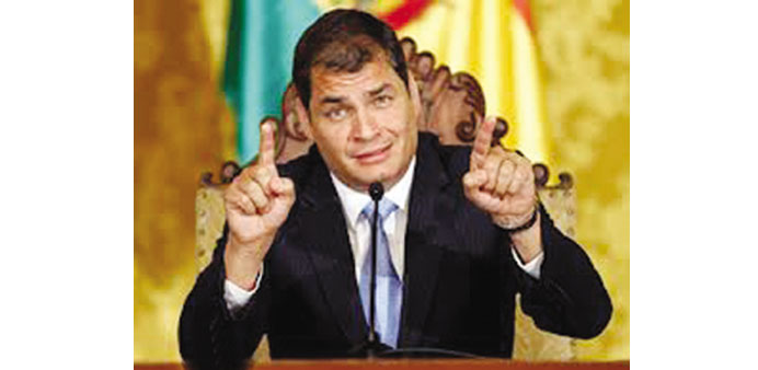 Ecuador's Correa on course for re-election