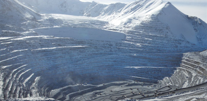 The Kumtor mine in Kyrgyzstan sits atop at least two glaciers.